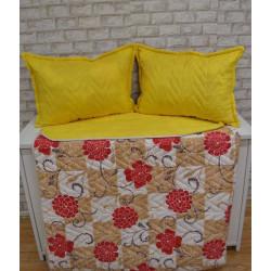 Двулицево шалте с възглавница - ФЛОРАЛ от StyleZone