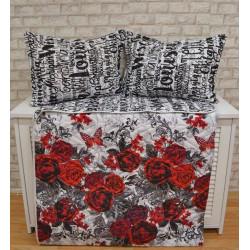 Двулицево шалте с възглавница - РОЗИ от StyleZone