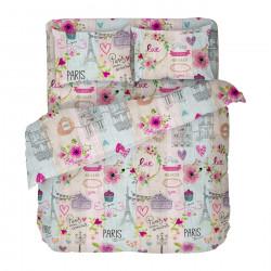 Бългрско цветно спално бельо от 100% памук - МОН АМУР от StyleZone