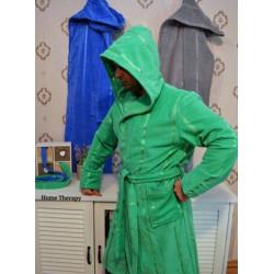 Плюшенo-хавлиен халат за баня 100% памук  - ЗЕЛЕН от StyleZone
