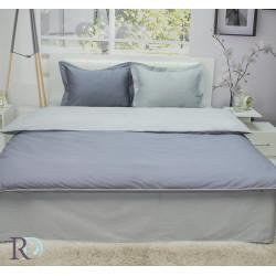 Двуцветно спално бельо от памучен сатен (тъмно сиво/светло сиво) от StyleZone