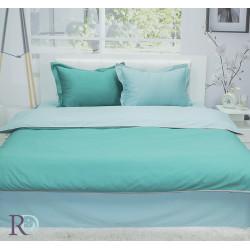 Двуцветно спално бельо от памучен сатен (тъмно зелено/светло зелено) от StyleZone