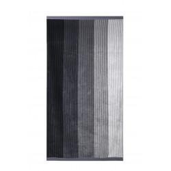 Плажна кърпа от висококачествен 100% памук - ЧЕРНО РАЙЕ  от StyleZone