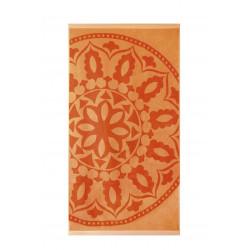 Плажна кърпа от висококачествен 100% памук - ОРАНЖЕВ МЕДАЛЬОН от StyleZone