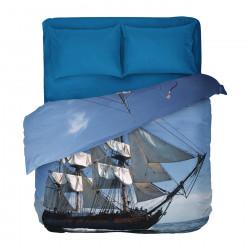 Бългрско цветно спално бельо от 100% памук - КОРАБ от StyleZone