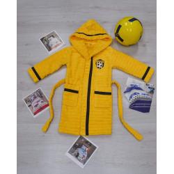 Детски  хавлиен  халат за баня от 100% памук за момче - ЖЪЛТ от StyleZone
