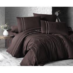 Спално бельо делукс сатен - STRIPE STYLE CHOCOLATE от StyleZone