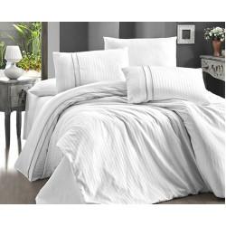 Спално бельо делукс сатен - STRIPE STYLE BEYAZ от StyleZone
