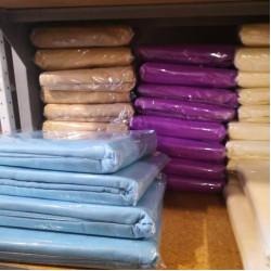 Покривало за легло (тънко шалте) от 100% памук - СИНЬО от StyleZone