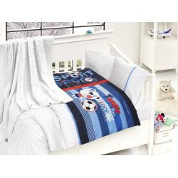 Бебешко спално бельо с плетено памучно одеяло - Tини от StyleZone