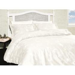 Луксозно спално бельо от сатениран памук-  CARMINA BEYAZ от StyleZone