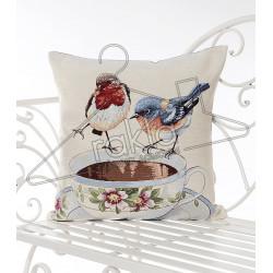 Испанска декоративна калъфка за възглавница с цип - ПТИЧКИ от StyleZone