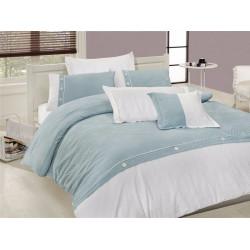 Вип спално бельо от висококачествен сатениран памук - Henna Turkuaz от StyleZone
