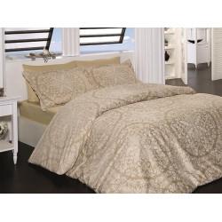 Луксозно спално бельо от 100% сатениран памук - VANESSA CAMEL от StyleZone