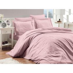 Луксозно спално бельо от 100% памучен сатен - жакард - FIONA PUDRA от StyleZone