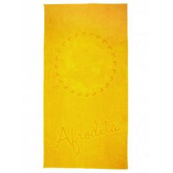 Едноцветна плажна кърпа от 100% памук - ЖЪЛТА от StyleZone