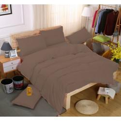 Едноцветно спално бельо със завивка -  ШОКОЛАД от StyleZone