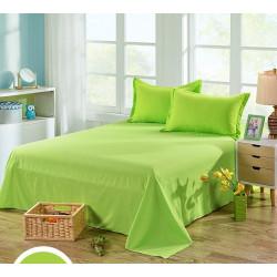 Едноцветен долен чаршаф от 100% памук - ЦВЯТ ЛАЙМ от StyleZone