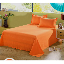 Едноцветен долен чаршаф от 100% памук - ОРАНЖЕВО от StyleZone