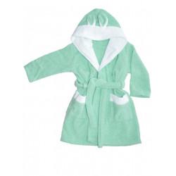 Бебешки халат за баня от 100% памук - СВЕТЪЛ ТЮРКОАЗ от StyleZone