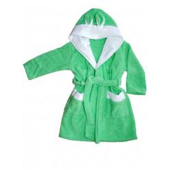 Бебешки халат за баня от 100% памук - ЗЕЛЕН от StyleZone
