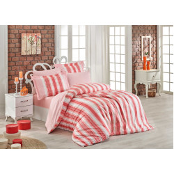 Луксозно спално бельо от 100% памук поплин - DEBORA KORAL от StyleZone