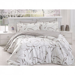 Спално бельо от сатениран памук с два плика - CALISTO KREM от StyleZone