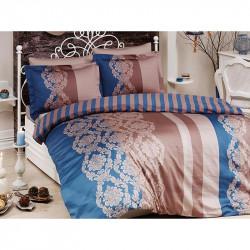 Спално бельо от сатениран памук с два плика - KAVIN PETROL от StyleZone