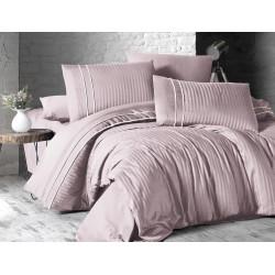 Спално бельо делукс сатен - STRIPE STYLE PUDRA от StyleZone