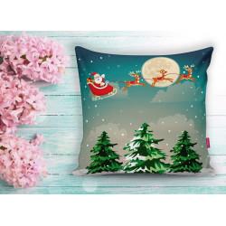 Коледна декоративна възглавница с цип - КОЛЕДНА НОЩ от StyleZone