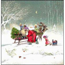 Коледна декоративна възглавница с цип - ДЯДО  2 от StyleZone