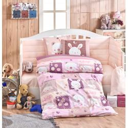Бебешко спално бельо от 100% памук поплин - SNOOPY PEMBE от StyleZone