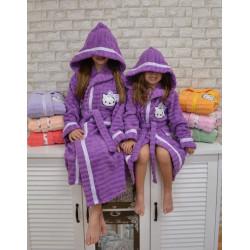 Детски  хавлиен  халат за баня от 100% памук - ЛИЛАВ от StyleZone