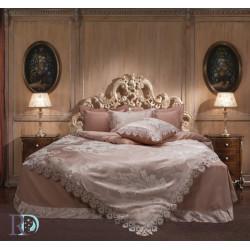 Спално бельо от памучен сатен жакард с дантела - АФРОДИТА ПРАСКОВА от StyleZone