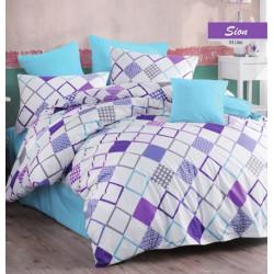 Елегантно спално бельо от 100% памук - SION LILAC от StyleZone