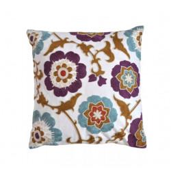 Декоративна възглавница с бродерия - PURPLE FLOWER от StyleZone