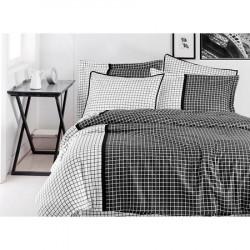 Луксозно спално бельо от сатениран памук-  HERMIA FUME от StyleZone