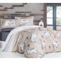 Спално бельо от  сатениран памук - KENZO BEIGE от StyleZone
