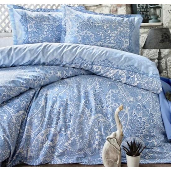 Спално бельо от 100% памук ранфорс - ELVINA BLUE от StyleZone