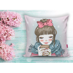 Арт деко възглавница -  HOT COFFEE от StyleZone