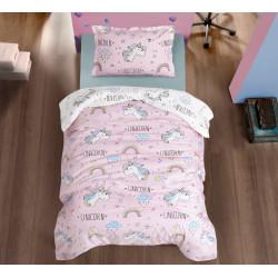 Юношеско спално бельо - ЮНИКОРН ПИНК от StyleZone