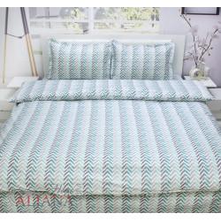 Спален комплект от 100% памук - ЗИГ ЗАГ ТЮРКОАЗ от StyleZone