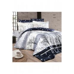 Спално бельо от сатениран памук с два плика - DOGA LACIVERT от StyleZone