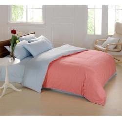 Двуцветно спално бельо от 100% памук (сьомга/светло синьо) от StyleZone