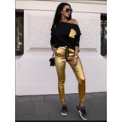 Комплект с клин в златен цвят