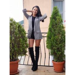 Карирано дамско сако