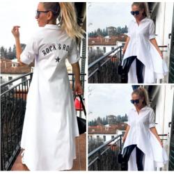 Дълга бяла риза