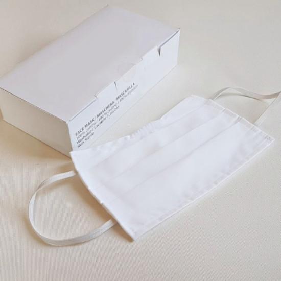 Пакет 20 бр - Маски за лице за многократна употреба от 2 слоя памук - FCO - НАЛИЧНО